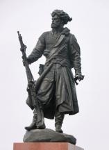 Monument t the first explores of Siberia - Cossack Yakov Pokhabov