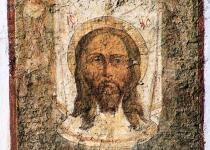 Fresco of Our Saviour on the walls of the Church