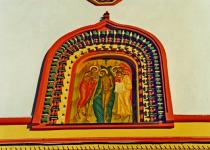 Frescos on walls of Epiphany Cathedral