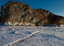 Cracks in Baikal Ice