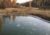 End of September. First ice