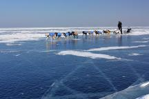 Sledging over the ice of Baikal
